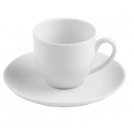 Tasse à café avec sa sous-tasse Alinoé Strié, Table Passion