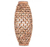 Lampe en fibre naturelle de Jacinthe, Table Passion