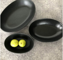 Plat creux noir Caviar, Bruno Evrard