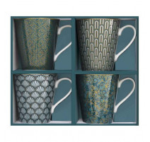 Coffret 4 mugs Eden, Easy Life.