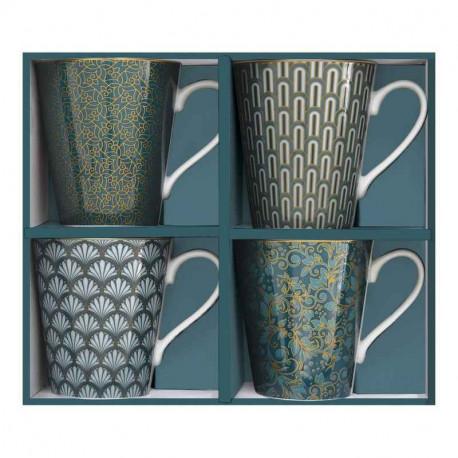 Coffret 4 mugs Eden, Easy Life.