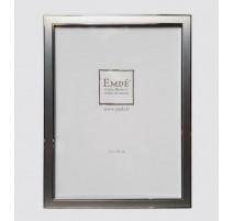 Cadre métal argent brossé 15x20 cm, Emde