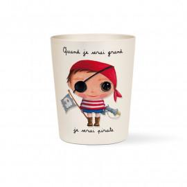 """Verre Bambou Quand je serai grand """"Pirate"""", Isabelle Kessedjian"""