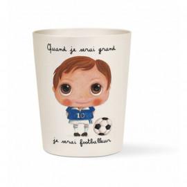 "Verre bambou Quand je serai grand ""Footballeur"", Isabelle Kessedjian"