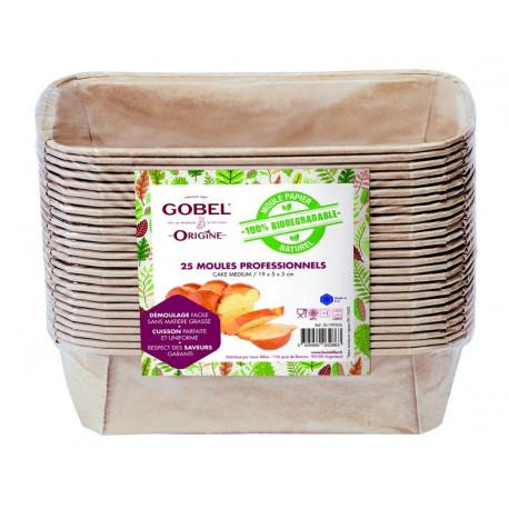 25 moules à cake en papier, Gobel