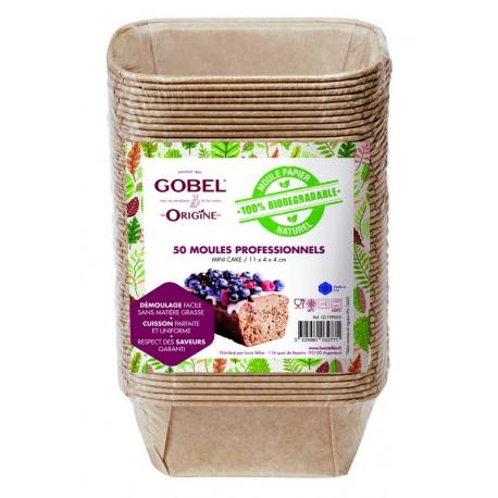 50 moules mini cake en papier, Gobel
