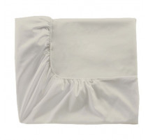 Drap housse percale meringue, Essix