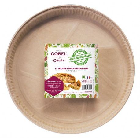 15 moules à tarte en papier, Gobel