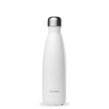 Bouteille isotherme Matt blanc, Qwetch