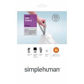Sacs poubelles 30L-H, Simplehuman