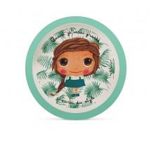 Assiette plate bambou Style, Isabelle Kessedjian