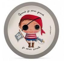 Assiette en bambou Pirate, Isabelle Kessedjian