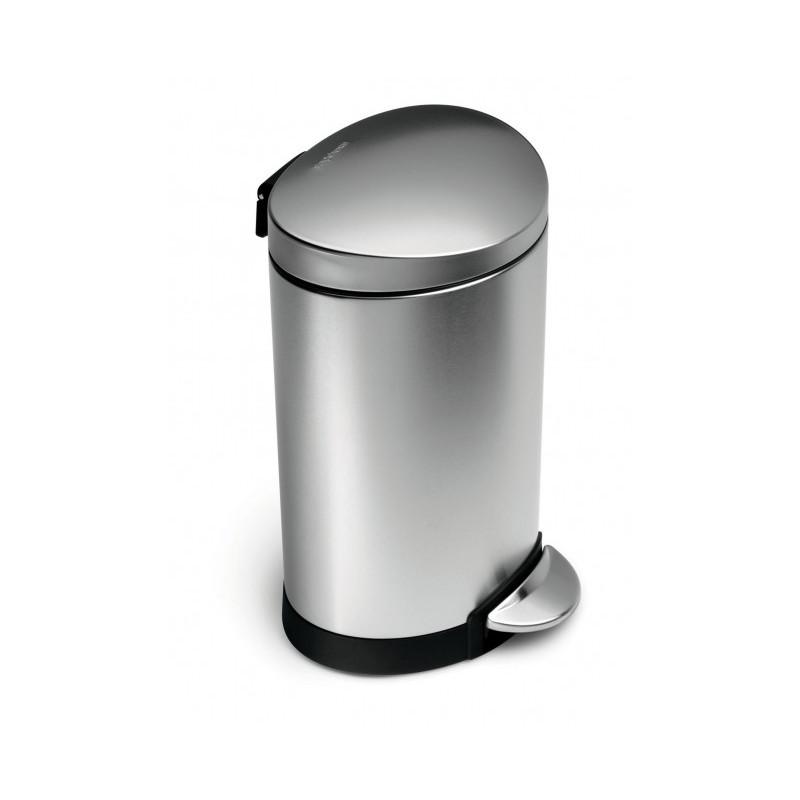 achat vente poubelle semi ronde 6l simplehuman. Black Bedroom Furniture Sets. Home Design Ideas