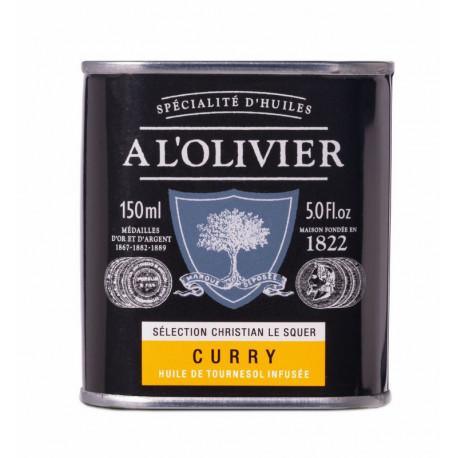 Huile de tournesol au curry, A L'OLIVIER