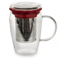 Mug infuseur Boro rouge, Table Passion