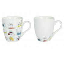 """Coffret 6 tasses à café collection """"Méli Mélo"""", Table Passion"""