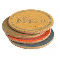 Set de 4 dessous de verre colorés, T&G Woodware