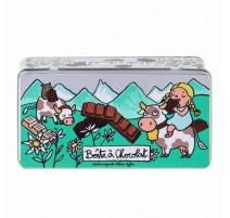 Boîte à chocolat Tablettes Alpes, Derrière la Porte