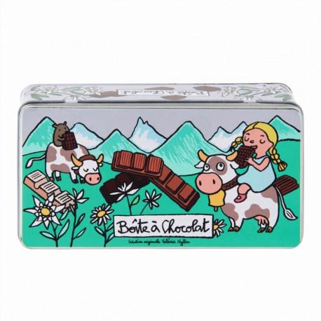 Boîte à chocolat Les Alpes, Derrière la Porte