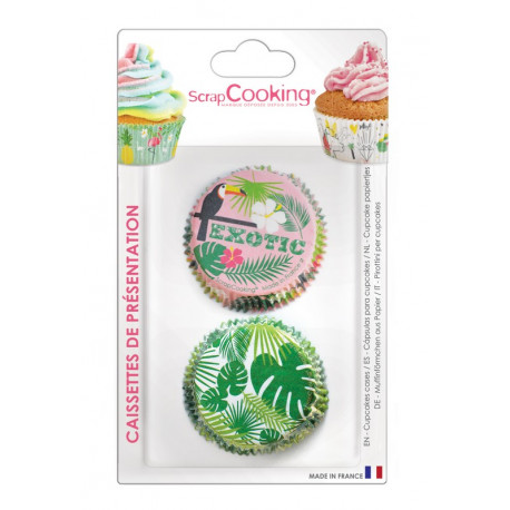 Caissettes Cupcakes Tropical, ScrapCooking
