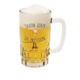 """Chope à bière """"Savoir gérer la pression"""", La Chaise Longue"""