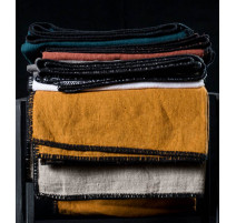 Nappe en lin Létia charbon, Harmony Textile