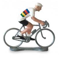 Figurine cycliste Maillot Jaune, Bernard & Eddy