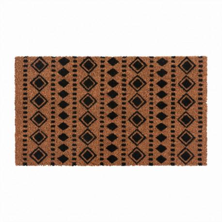 Paillasson coco Ethnique Graphique Losanges, Derrière la porte