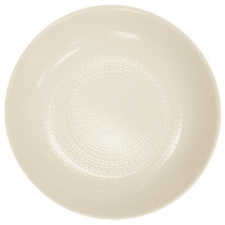 Assiette creuse Guy Degrenne modulo nature kaolin