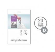 Sacs poubelle 20L-D, Simplehuman