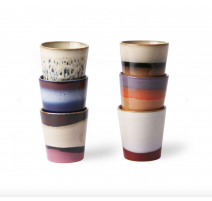 Set 6 mugs 70's, HK Living