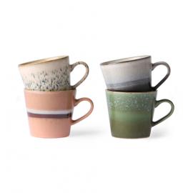 Set 4 tasses à cappuccino 70's, HK Living