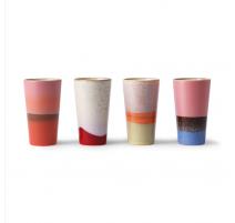 Set 4 maxi mugs 70's, HK Living