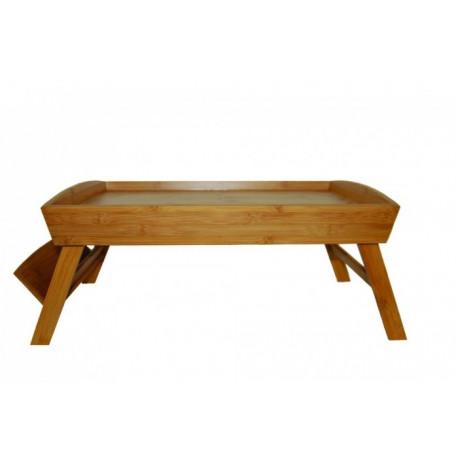 plateau de lit en bambou 54x34cm plateau pliant pour. Black Bedroom Furniture Sets. Home Design Ideas