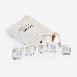 Set 6 glaçons en cristal, Point Virgule