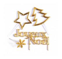 4 accessoires de Noël dorés, ScrapCooking