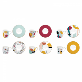 Coffret 6 tasses à café Modernism, Easy Life
