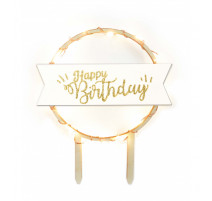 Cake topper LED Happy Birthday, ScrapCooking