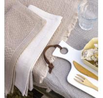 Serviette de table Slow Life métal, Le Jacquard Français