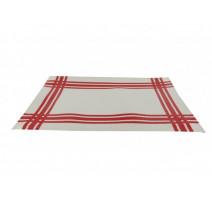 Set de table torchon rouge en PVC, Siba