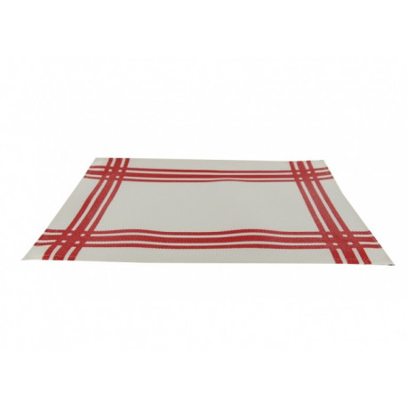 Set de table torchon rouge en PVC, Siba