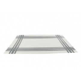 Set de table torchon gris en PVC, Siba