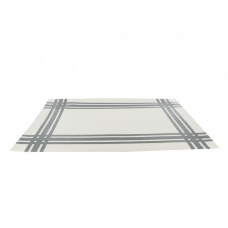 Set de table torchon gris en PVC, Siba