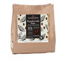 Chocolat à pâtisser & déguster Equatoriale noir 55%, Valrhona