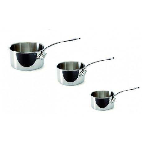 Série de 3 casseroles inox M'cook, Mauviel