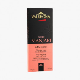 Tablette chocolat noir Manjari 64%, Valrhona