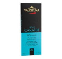 Tablette chocolat noir Caraïbe 66%, Valrhona
