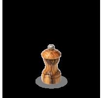 Moulin à sel BISTRO manuel en bois d'olivier 10 cm, Peugeot.