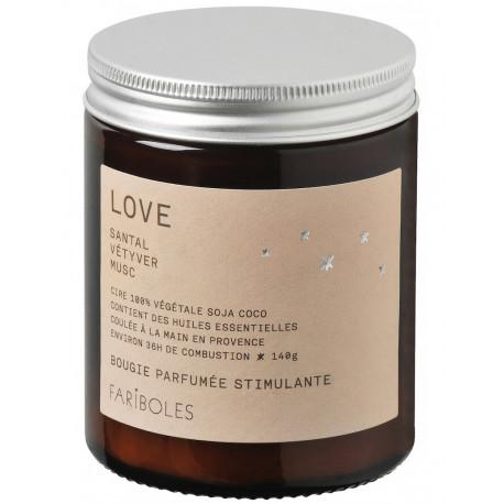 Bougies parfumées LOVE, Fariboles