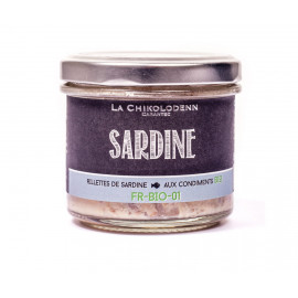 Rillettes de Sardine Bio, La Chikolodenn